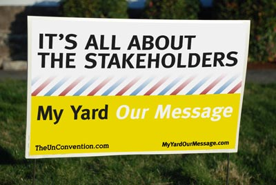 My Yard Our Message Sign