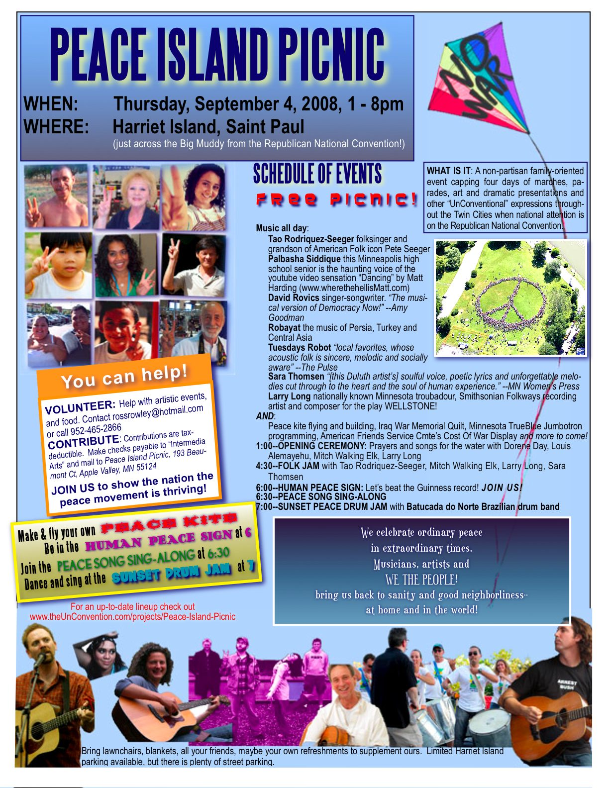 Peace Island Picnic flyer